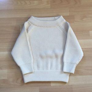 PRADA. CREAM  color short sleeve Sweater